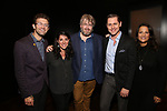 Sam Pinkleton, Rachel Chavkin, Dave Malloy, Michael McCorry Rose and Eleni Gianulis attend the Dramatists Guild Fund's Intimate Salon with Dave Malloy at Stella Tower on June 7, 2017 in New York City.