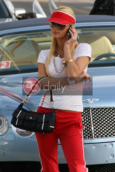 Paris Hilton and model photo shoot for Fila, in Venice, California, on January 28, 2007.