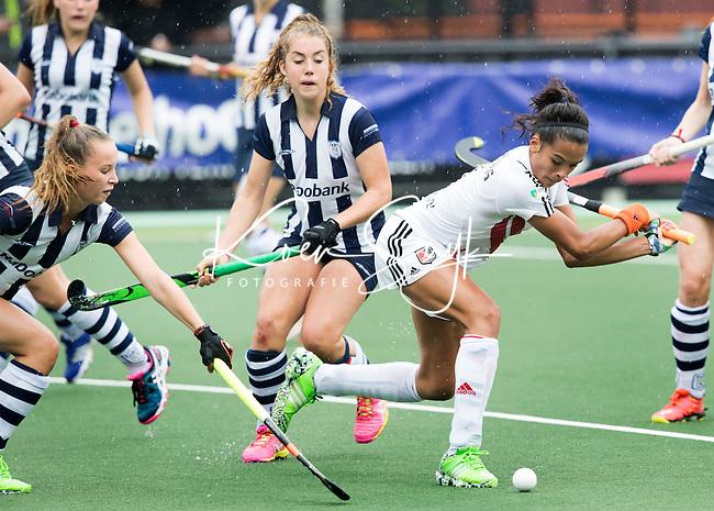 DEN BOSCH - HOCKEY -  Yasmin Geerlings voor A'dam aan de bal. Landkampioenschap jeugd  tussen HDM MA1 en Amsterdam MB1. Amsterdam wordt Kampioen (0-1) COPYRIGHT KOEN SUYK