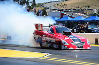 Jul. 31, 2011; Sonoma, CA, USA; NHRA funny car driver Cruz Pedregon during the Fram Autolite Nationals at Infineon Raceway. Mandatory Credit: Mark J. Rebilas-