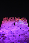 Israel, Jerusalem, Light in Jerusalem festival, Jaffa gate