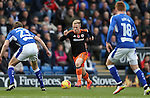 Mark Duffy of Sheffield Utd during the English League One match at the Proact Stadium, Chesterfield. Picture date: November 13th, 2016. Pic Simon Bellis/Sportimage