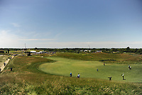 Aaron Rai (ENG) hits his second shot on 12 during Friday's round 2 of the 117th U.S. Open, at Erin Hills, Erin, Wisconsin. 6/16/2017.<br /> Picture: Golffile | Ken Murray<br /> <br /> <br /> All photo usage must carry mandatory copyright credit (&copy; Golffile | Ken Murray)
