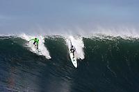 Evan Slater and Grant Washburn.  Mavericks Surf Contest 2008.  Half Moon Bay, Ca.  January 12, 2008.