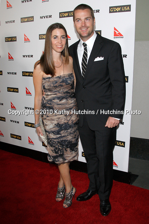 Chris O'Donnell & Wife.arriving at the G'Day USA 2010 Los Angeles Black Tie Gala.Hollywood & Highland.Los Angeles, CA.January 16, 2010.©2010 Kathy Hutchins / Hutchins Photo....