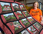 Marilyn Newell, coordinator for Quinlting Bee at the Fairview Community Church made a quilt that was given away during the Warren County Fair. She has given away a wall hanging quilt for last three years to help the church.