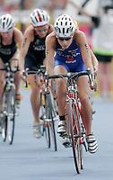 30 JUL 2006 - SALFORD, UK - Vanessa Raw - Salford ITU World Cup triathlon round. (PHOTO (C) NIGEL FARROW)