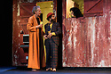 """Eat A Crocodile presents """"Shake"""" an adaption, in French, of William Shakespeare's """"Twelfth Night"""", at the Royal Lyceum, as part of Edinburgh International Festival 2016. Picture shows: Geoffrey Carey (Feste), Vincent Berger (Sir Toby), Valerie Crouzet (Olivia)"""