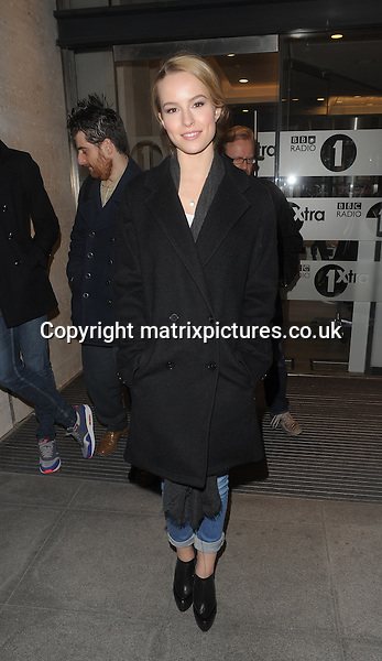 NON EXCLUSIVE PICTURE: MATRIXPICTURES.CO.UK.PLEASE CREDIT ALL USES..WORLD RIGHTS..American Disney actress Bridgit Mendler is spotted leaving London's BBC Radio 1 studio. ..FEBRUARY 28th 2013..REF: LTN 131387