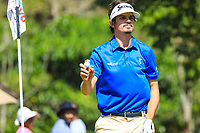 Pedro Figueiredo (POR) in action during the third round of the Magical Kenya Open, Karen Country Club, Nairobi, Kenya. 16/03/2019<br /> Picture: Golffile | Phil Inglis<br /> <br /> <br /> All photo usage must carry mandatory copyright credit (&copy; Golffile | Phil Inglis)