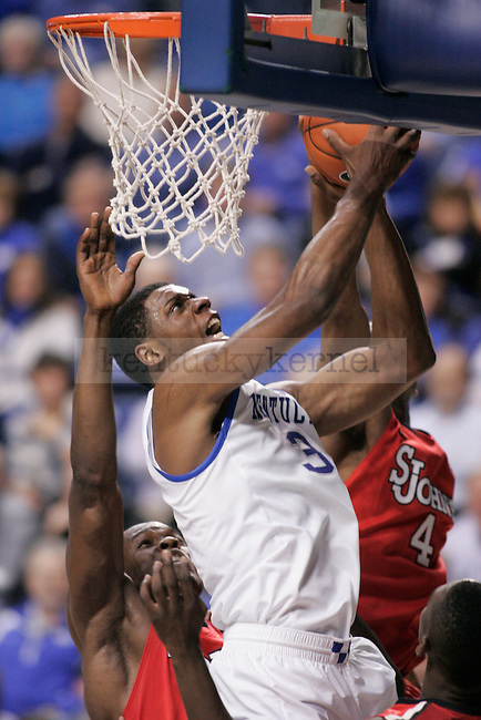 Sophomore forward Terrence Jones goes up for a layup during the second half of UK's home game against St. John's at Rupp Arena in Lexington, Ky., Dec. 1, 2011. Photo by Brandon Goodwin