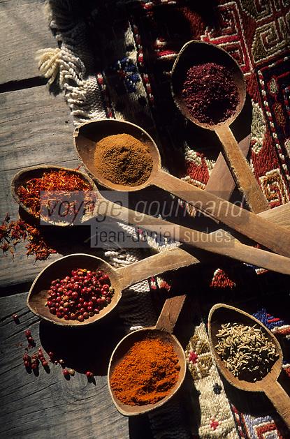 Europe/Turquie : Assortiment de plusieurs épices