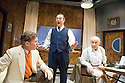 Moonlight and Magnolias by Ron Hutchinson ,directed by Sean Holmes. With Steven Pacey as Victor Flemming, Andy Nyman as David O'Selznick,Nicholas Woodeson as Ben Hecht.Opens at The Tricycle Theatre  on 10/7/08. CREDIT Geraint Lewis