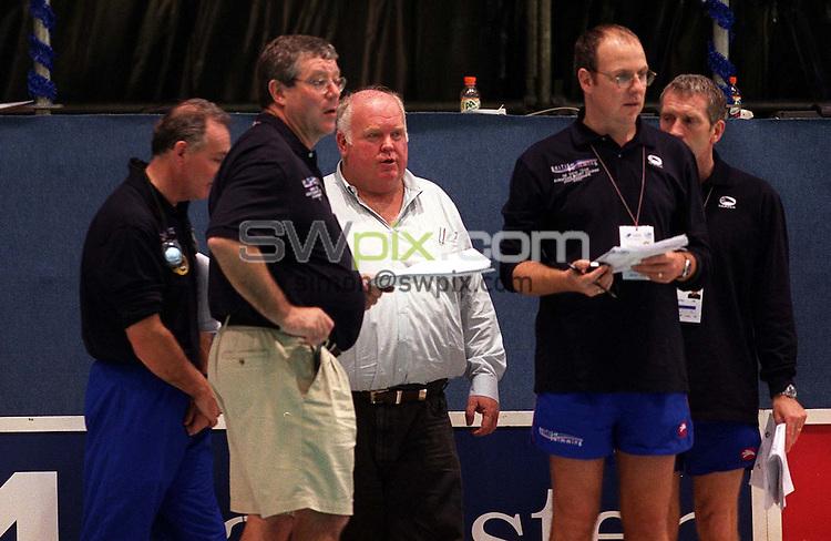 Pix: Ben Duffy/SWpix.com....International Swimming-European Short Course Championships, Antwerp, Belgium.....16/12/2001..COPYWRIGHT PICTURE>>SIMON WILKINSON>>01943 436649>>..Great Britain's coaches.