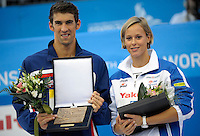 Roma 2nd August 2009 - 13th Fina World Championships From 17th to 2nd August 2009....Swimming finals..Michael Phelps (USA) awarded with the Fina Swimmer of Roma09 World Championships....photo: Roma2009.com/InsideFoto/SeaSee.com
