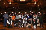 "Students  during The Rockefeller Foundation and The Gilder Lehrman Institute of American History sponsored High School student #eduHam matinee performance of ""Hamilton"" Q & A at the Richard Rodgers Theatre on November 28, 2018 in New York City."