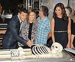 David Boreanaz, Emily Deschanel and Michaela Conlin at the BONES 200th Episode Celebration held at FOX Studios in Los Angeles, CA. November 14, 2014.