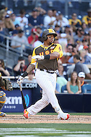 Dominic Smith of the USA Team bats against the World Team during The Futures Game at Petco Park on July 10, 2016 in San Diego, California. World Team defeated USA Team, 11-3. (Larry Goren/Four Seam Images)