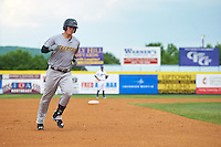Trenton Thunder first baseman Tyler Austin (17) runs the bases after hitting a home run during a game against the Binghamton Mets on May 29, 2016 at NYSEG Stadium in Binghamton, New York.  Trenton defeated Binghamton 2-0.  (Mike Janes/Four Seam Images)