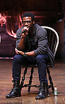Michael Luwoye performing before the Gilder Lehman Institute of American History Education Matinee of 'Hamilton' at the Richard Rodgers  Theatre on November 2, 2016 in New York City.