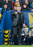 Oxford United Manager Karl Robinson during the Sky Bet League 1 match between Oxford United and Oldham Athletic at the Kassam Stadium, Oxford, England on 7 April 2018. Photo by Andy Rowland.