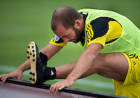 July 20, 2013: Columbus Crew forward Federico Higuain #33 during the warm-up in a game between Toronto FC and the Columbus Crew at BMO Field in Toronto, Ontario Canada.<br /> Toronto FC won 2-1.