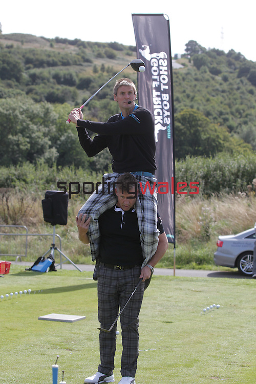 The Golf Trick Boys entertaining the crowds at the<br /> ISPS Handa Wales Open 2013<br /> Celtic Manor Resort<br /> <br /> 01.09.13<br /> <br /> ©Steve Pope-Sportingwales