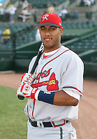 Yunel Escobar of the Richmond Braves vs. the Rochester Red Wingss:  May 31st, 2007 at Frontier Field in Rochester, NY. Photo By Mike Janes/Four Seam Images