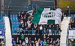 Stockholm 2014-03-27 Ishockey Kvalserien Djurg&aring;rdens IF - R&ouml;gle BK :  <br /> R&ouml;gles supportrar jublar efter att R&ouml;gles Robin Sterner kvitterat till 1-1<br /> (Foto: Kenta J&ouml;nsson) Nyckelord:  DIF Djurg&aring;rden R&ouml;gle RBK Hovet supporter fans publik supporters jubel gl&auml;dje lycka glad happy