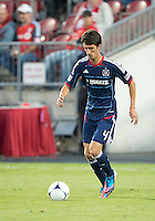 12 September 2012: Chicago Fire midfielder Alvaro Fernandez #4 in action during an MLS game between the Chicago Fire and Toronto FC at BMO Field in Toronto, Ontario..The Chicago Fire won 2-1..