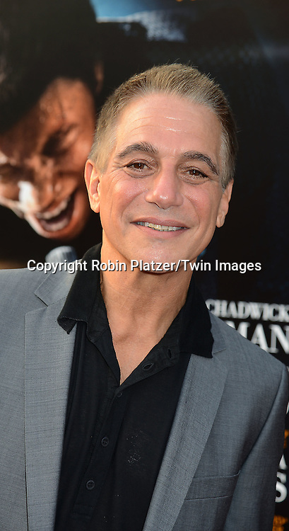 "Tony Danza attends the World Premiere of ""Get On Up"" at the Apollo Theater in Harlem in New York Citiy on July 21, 2014."