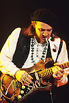 Various live photographs of the rock-blues guitarist, Stevie Ray Vaughan