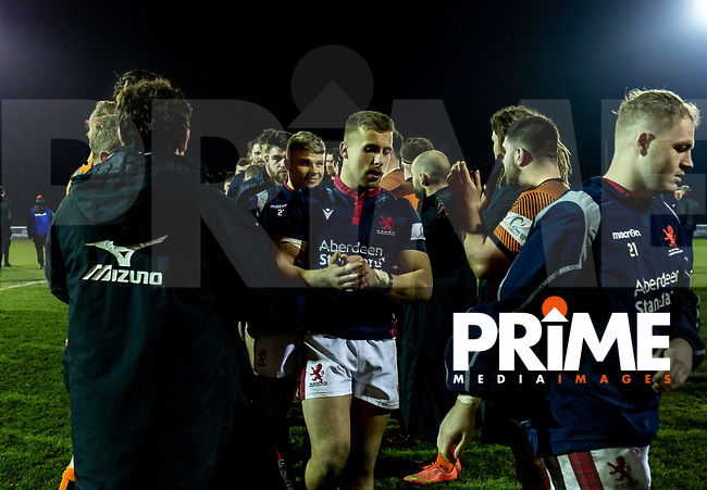 Match action during the Greene King IPA Championship match between London Scottish and Ealing Trailfinders at Richmond Athletic Ground, Richmond, United Kingdom on 24 January 2020. Photo by Liam McAvoy.