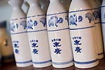 Photo shows Suehiro Sake Brewery in Aizu-wakamatsu City, Fukushima, Japan on 15 March 2013.  Photographer: Robert GilhoolyPhoto shows tokkuri jars used to pour sake at the Suehiro Sake Brewery in Aizu-wakamatsu City, Fukushima, Japan on 15 March 2013.  Photographer: Robert Gilhooly