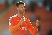 Blackpool's Gary Madine celebrates his sides win<br /> <br /> Photographer Kevin Barnes/CameraSport<br /> <br /> The EFL Sky Bet League One - Blackpool v Swindon Town - Saturday 19th September 2020 - Bloomfield Road - Blackpool<br /> <br /> World Copyright © 2020 CameraSport. All rights reserved. 43 Linden Ave. Countesthorpe. Leicester. England. LE8 5PG - Tel: +44 (0) 116 277 4147 - admin@camerasport.com - www.camerasport.com