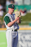 Fort Wayne TinCaps pitcher Logan Allen (26) looks to his catcher for the sign against the West Michigan Whitecaps on May 23, 2016 at Parkview Field in Fort Wayne, Indiana. The TinCaps defeated the Whitecaps 3-0. (Andrew Woolley/Four Seam Images)