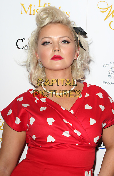LONDON, ENGLAND - Hannah Spearritt arrives at the Whatsonstage Theatre Awards at the Prince of Wales Theatre, London on February 21st 2016<br /> CAP/ROS<br /> &copy;Steve Ross/Capital Pictures