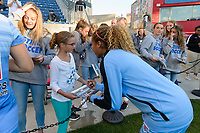 Bridgeview, IL - Sunday June 25, 2017: Fans, Casey Short during a regular season National Women's Soccer League (NWSL) match between the Chicago Red Stars and Sky Blue FC at Toyota Park. The Red Stars won 2-1.
