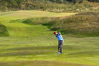 James Fox (Portmarnock) on the 14th during Round 3 of the East of Ireland Amateur Open Championship 2018 at Co. Louth Golf Club, Baltray, Co. Louth on Monday 4th June 2018.<br /> Picture:  Thos Caffrey / Golffile<br /> <br /> All photo usage must carry mandatory copyright credit (&copy; Golffile | Thos Caffrey