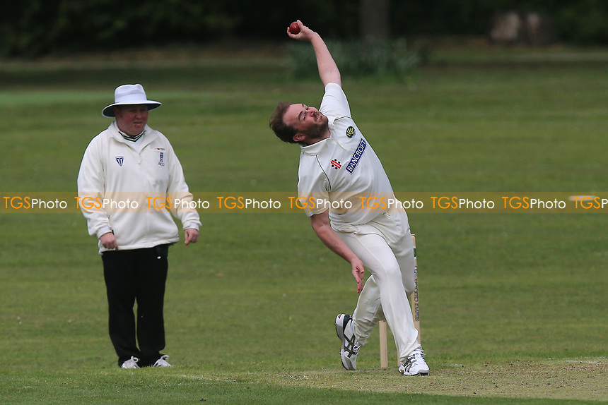 R Brabner of Harold Wood during Harold Wood CC vs Ilford CC, Shepherd Neame Essex League Cricket at Harold Wood Park on 29th April 2017