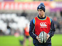 Cardiff Blues&rsquo; Steve Shingler during the pre-match warmup<br /> <br /> Photographer Kevin Barnes/CameraSport<br /> <br /> Guinness Pro14 Round 13 - Ospreys v Cardiff Blues - Saturday 6th January 2018 - Liberty Stadium - Swansea<br /> <br /> World Copyright &copy; 2018 CameraSport. All rights reserved. 43 Linden Ave. Countesthorpe. Leicester. England. LE8 5PG - Tel: +44 (0) 116 277 4147 - admin@camerasport.com - www.camerasport.com