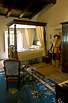 Bedroom at the Casa de Estudillo Museum, Old Town San Diego State Historic Park, San Diego, California