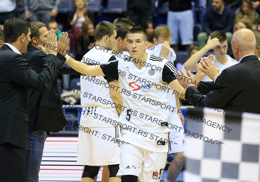 Kosarka ABA League season 2015-2016<br /> Partizan v MZT Skoplje<br /> Petar Aranitovic<br /> Beograd, 06.10.2015.<br /> foto: Srdjan Stevanovic/Starsportphoto&copy;