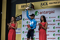 Mikel Landa (ESP/Movistar) most combative rider of the stage. <br /> <br /> Stage 15: Limoux to Foix Prat d'Albis (185km)<br /> 106th Tour de France 2019 (2.UWT)<br /> <br /> ©kramon