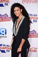 LONDON, UK. December 09, 2018: Vick Hope at Capital's Jingle Bell Ball 2018 with Coca-Cola, O2 Arena, London.<br /> Picture: Steve Vas/Featureflash