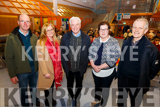 Pictured at the Diocesan Lenten talks held in Colaiste na Sceilge on Monday evening were l-r; Gearóid O'Connor(Chairperson Area Pastoral Council), Noreen Curran (Secretary Area Pastoral Council), Fr Peter McVerry(Peter McVerry Trust), Tara Kavanagh(Chairperson Cahersiveen Parish Council) & Fr Larry Kelly.