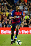 Ousmane Dembele of FC Barcelona runs with the ball during the La Liga match between Barcelona and Real Sociedad at Camp Nou on May 20, 2018 in Barcelona, Spain. Photo by Vicens Gimenez / Power Sport Images