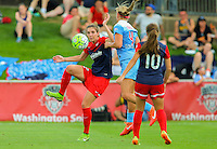 Boyds, MD - Saturday July 09, 2016: Alyssa Kleiner, Alyssa Mautz during a regular season National Women's Soccer League (NWSL) match between the Washington Spirit and the Chicago Red Stars at Maureen Hendricks Field, Maryland SoccerPlex.