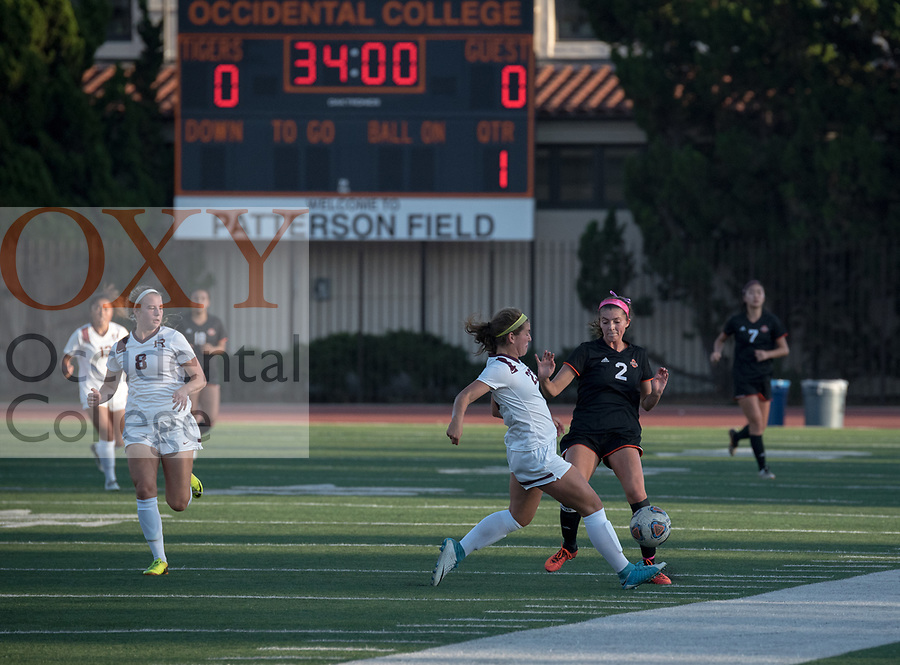 Occidental College celebrates Homecoming and Family Weekend on Saturday, Oct. 14, 2017 with Women&rsquo;s Soccer vs. Redlands at Patterson Field, Kemp Stadium.<br /> (Photo by Marc Campos, Occidental College Photographer)