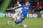 Getafe CF's Nemanja Maksimovic (r) and FC Krasnodar's Tonny Vilhena during UEFA Europa League match. December 12,2019. (ALTERPHOTOS/Acero)